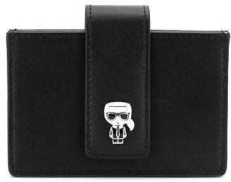 Karl Lagerfeld Paris enamelled wallet