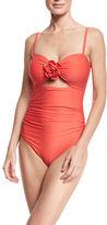 Kate Spade Floral-Appliqué Cutout One-Piece Swimsuit