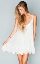 MUMU Lockett Lace Mini Dress ~ Ivory with Cream Lace
