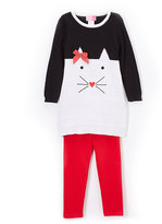 Good Lad Black Cat Tunic & Leggings - Girls