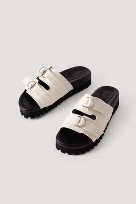 NA-KD Double Buckle Sandals