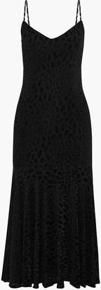 Caroline Constas Kai Metallic Leopard-print Fil Coupe Stretch-jersey Midi Dress