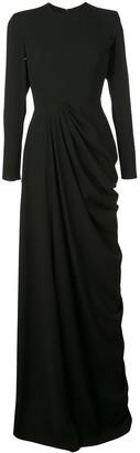 Alex Perry Structured Shoulder Evening Dress