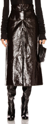 Lemaire Apron Skirt in Chocolate Torte   FWRD