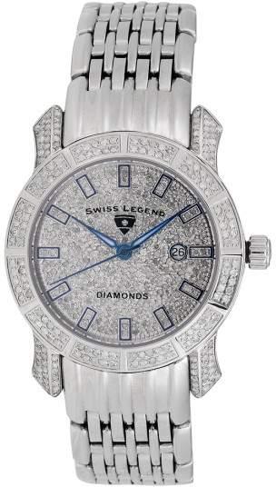 Swiss Legend SL-23024F Stainless Steel & Diamond Quartz Marquise Collection 34mm Womens Watch