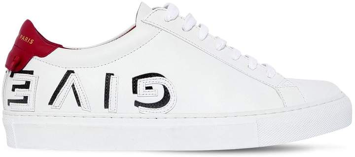 Givenchy 20mm Urban Reverse Logo Leather Sneakers