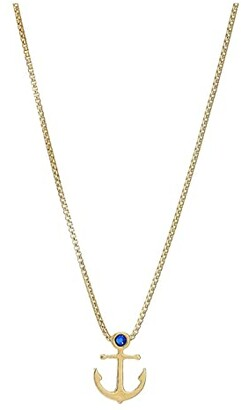 Alex and Ani 18 Anchor Adjustable Necklace (Sterling Silver) Necklace