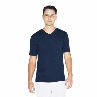 American Apparel Men's Fine Jersey Classic Short Sleeve V-Neck T-Shirt