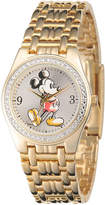 Disney Mens Gold-Tone Metal Alloy Strap Mickey Mouse Bracelet Watch