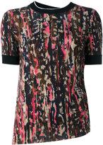 Marni printed short sleeve sweater - women - Cashmere - 40
