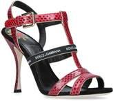 Dolce & Gabbana Snakeskin Heeled Sandals