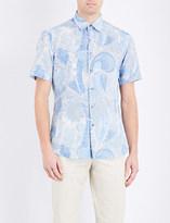 Brioni Camica linen and cotton-blend shirt