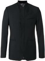 Kenzo fitted collarless blazer - men - Wool/Spandex/Elastane/Acetate/Cotton - 46