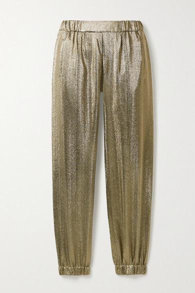 Saint Laurent Lurex Track Pants - Gold