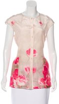 Lela Rose Floral Print Sleeveless Top w/ Tags