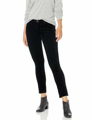 AG Jeans Women's Prima Corduroy Mid Rise Cigarette Leg Skinny Fit Crop Pant