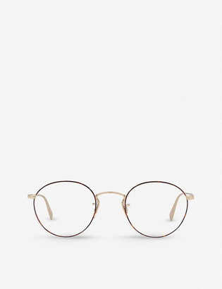 Oliver Peoples OV1186 Coleridge metal and acetate round-frame glasses