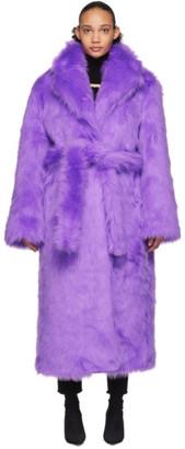 Vetements Purple Plush Coat