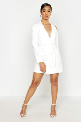 boohoo Woven Cut Out Shower Blazer Dress