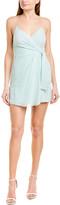Alice + Olivia Katie Silk-Blend Mini Dress