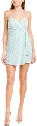 Alice + Olivia Katie Silk-Blend Mini Dress