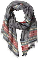 La Fiorentina Women's Italian Collection Striped Scarf with Frayed Edges