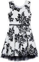 Amy Byer Floral-Print Skater Dress, Big Girls (7-16)