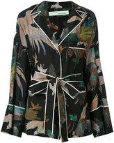 Off-White birds print pyjama shirt - women - Silk/Polyamide/Viscose - XS