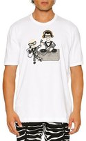 Dolce & Gabbana Sequined Stefano & Domenico DJ T-Shirt, White