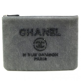 Chanel Grey Denim - Jeans Clutch bags