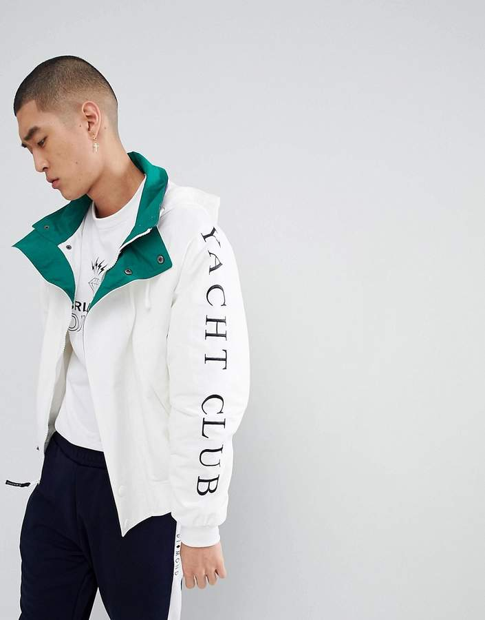 Diamond Supply Co. Challenger Jacket In White