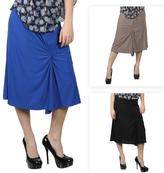 Journee Collection Junior's Stretchy Gathered Skirt