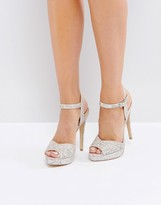 Lipsy Glitter Platform Sandals