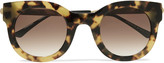 Thierry Lasry Draggy round-frame tortoiseshell acetate and metal sunglasses