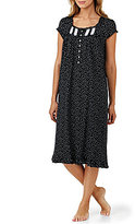 Eileen West Heart-Print Jersey Waltz Nightgown