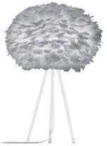 EOS Umage UMAGE - Large Light Grey Feather White Tripod Table Lamp - Grey/White