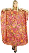 Kokom Women Bohemian Printed Dress Long Kaftan Cotton Maxi Nightwear Caftan