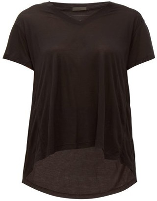 ATM - Slouchy V-neck T-shirt - Womens - Black