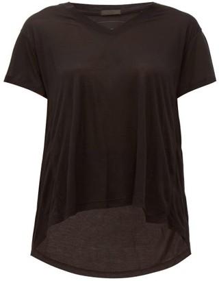 Atm - Slouchy V-neck T-shirt - Womens - Black