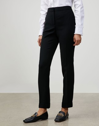 Lafayette 148 New York Petite Finesse Crepe Cuffed Clinton Pant