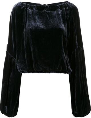 Le Soleil D'ete Pia velvet blouse