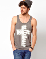 Asos Vest With Cross And Tree Print