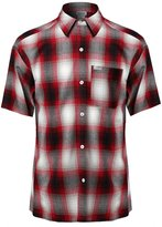 Youstar Short Sleeve Casual Plaid Buttondown Shirt Red Size 4XL