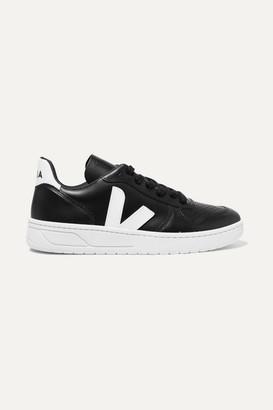 Veja Net Sustain V-10 Leather Sneakers - Black