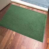 Bed Bath & Beyond Microfibre® Low Profile Squares 2-Foot x 3-Foot Door Mat in Green