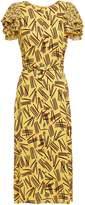 Kate Spade Mainline Matches Ruffle-trimmed Printed Crepe Midi Dress