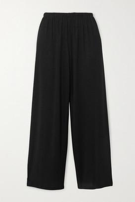Vince Cropped Jersey Pants - Black