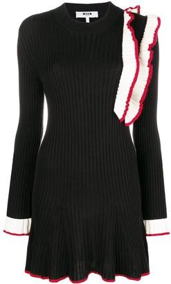 MSGM Frill-Trim Sweater Dress