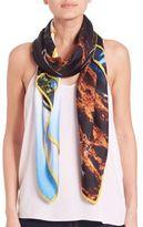 Yigal Azrouel Jagger Sunset-Print Silk Scarf