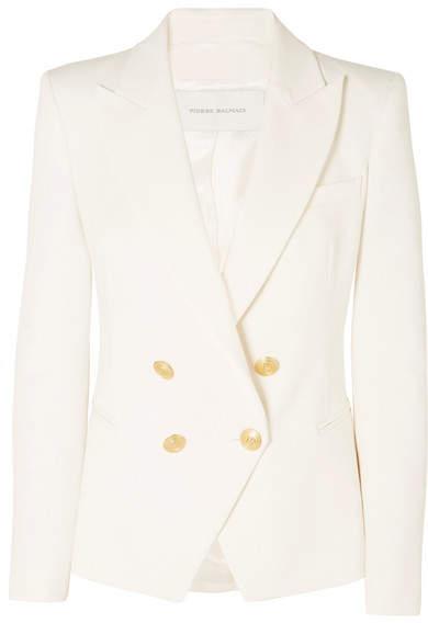 Pierre Balmain Double-breasted Cotton-blend Twill Blazer
